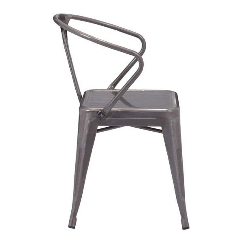 Helix Dining Chair Gunmetal