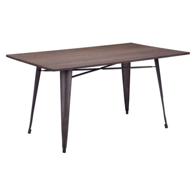 Titus Rectangul Dining Table Rustic Wood