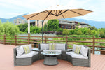 Echo Outdoor Rattan Sectional With Ice Bucket Insert Coffee Table - 6 pc (PREORDER)