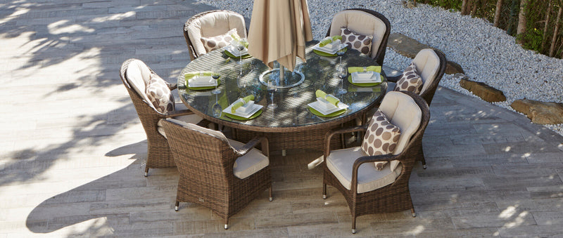 Sofia Premium Outdoor Rattan/Wicker Dining Set - 7 Pcs (PREORDER)