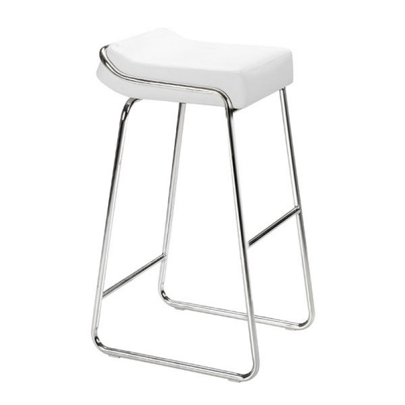 Wedge Barstool White