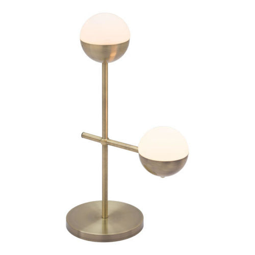 Waterloo Table Lamp White & Brushed Bronze