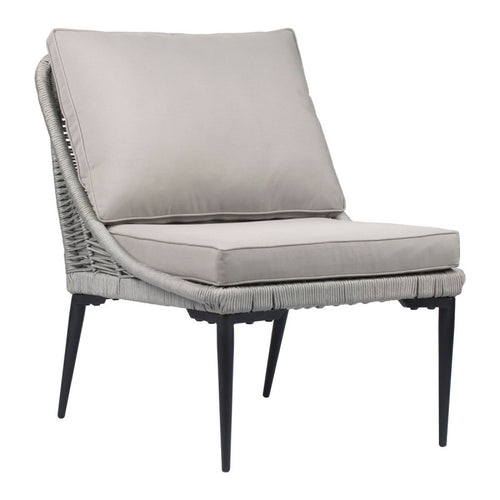 Tahiti Lounge Chair Black & Dark Gray