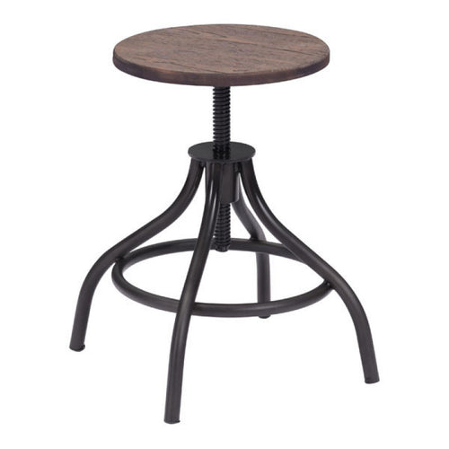 Plato Stool Rustic Wood