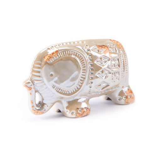 Antique Lg Elephant Distressed Pearl