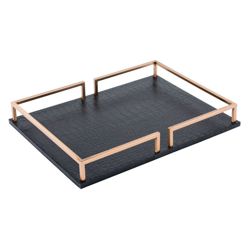 Square Tray Black
