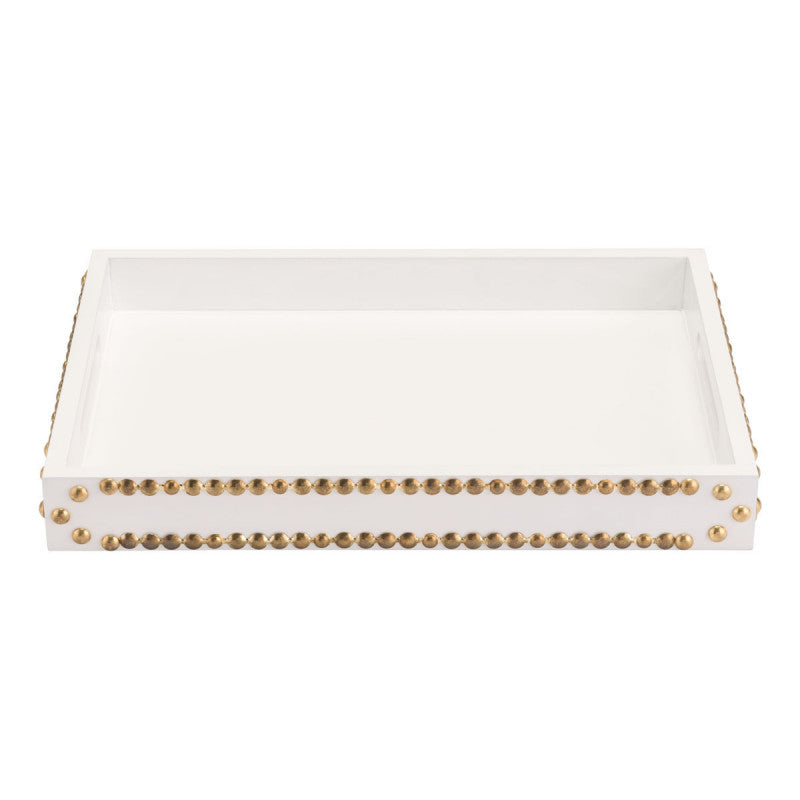 Tray With Studs White