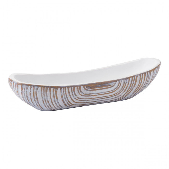 White Poly Bowl Antique White