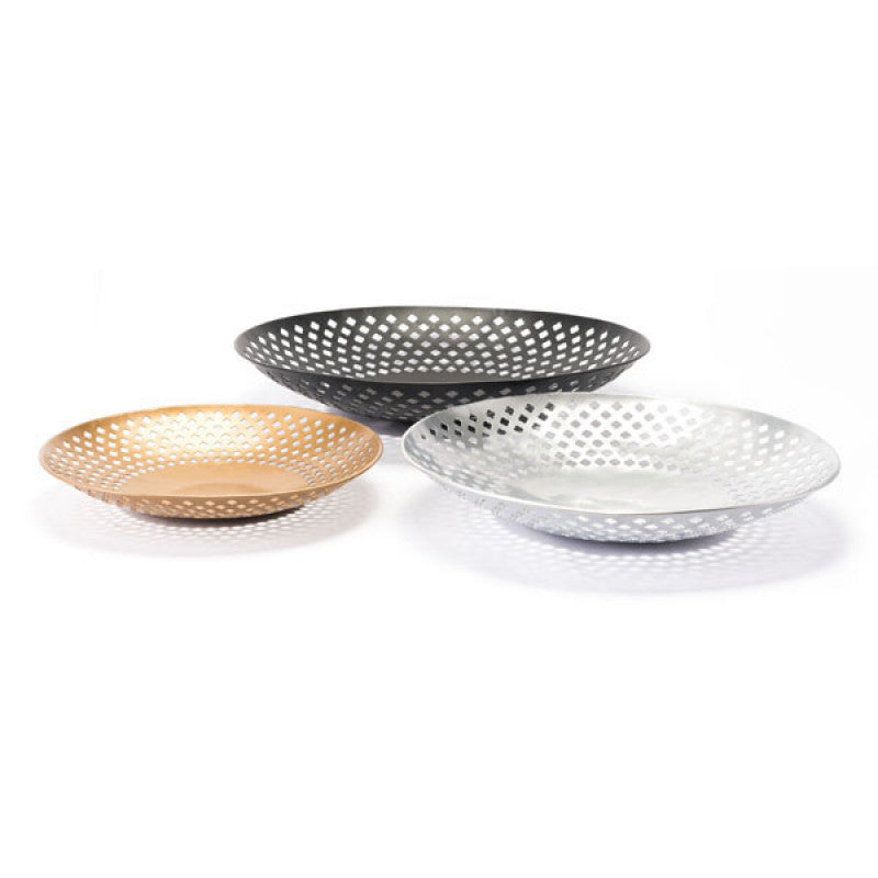 Set Of 3 Plates Multicolor
