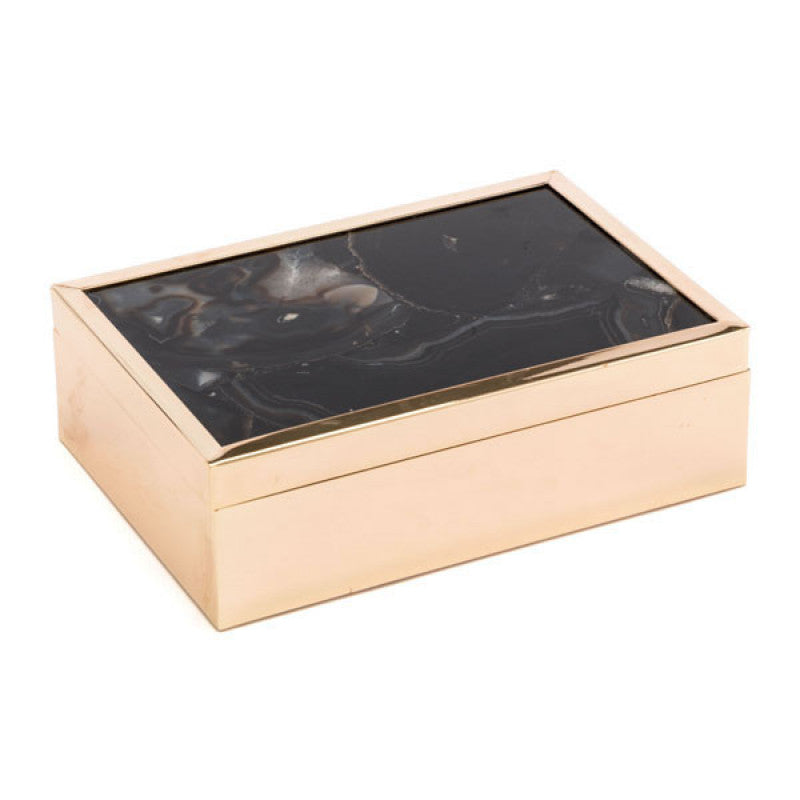 Black Stone Box Lg Black