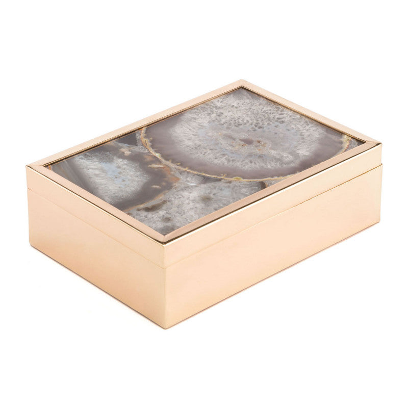 White Stone Box Lg White