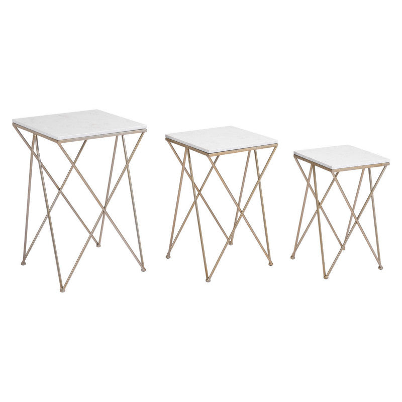 Trio Set Of 3 Side Tables Gold