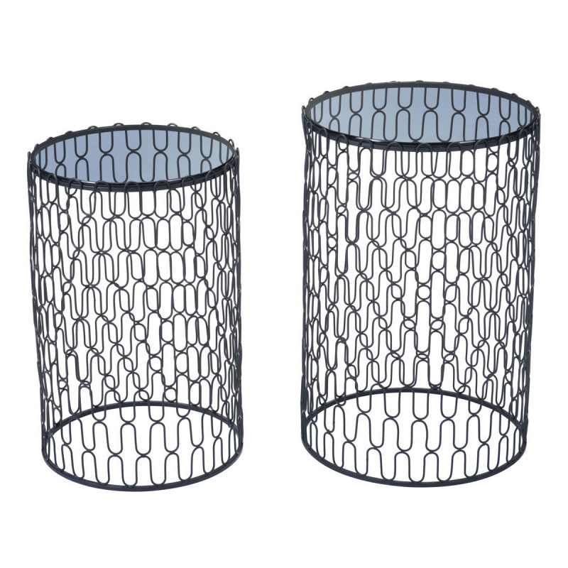 Amelia Set Of 2 Side Tables Black