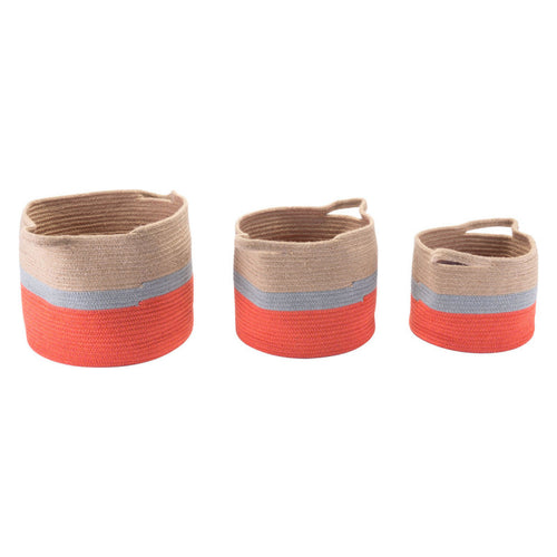 Ilesa Set Of 3 Baskets With Handles