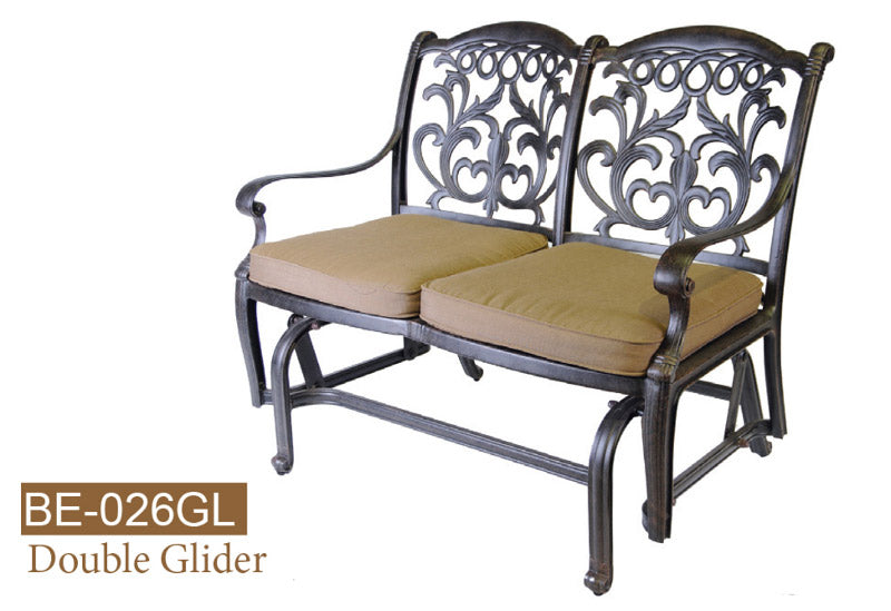 Fully Welded Glider Bench 2pc