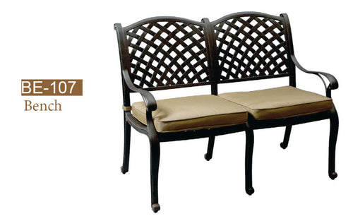 Love Seat Bench K/D 2pc