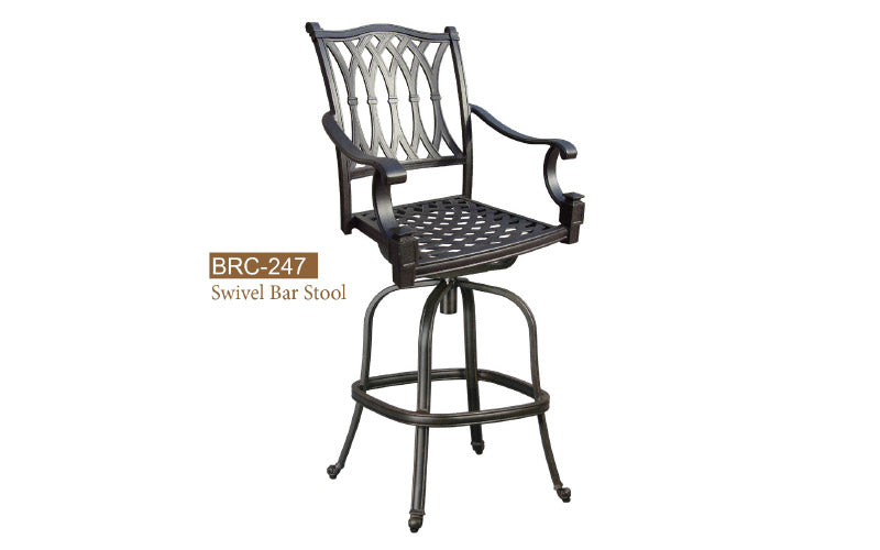 Welded Swivel Barstool 2pc