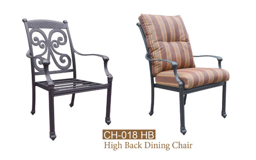 Fully Welded High Back Dining Chair 2pc