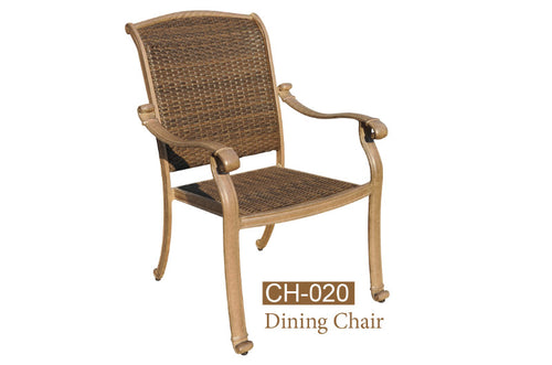 Fully Welded /Wicker Seat,Back  Dining 4pc