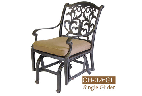 Fully Welded Glider Chair 2pc