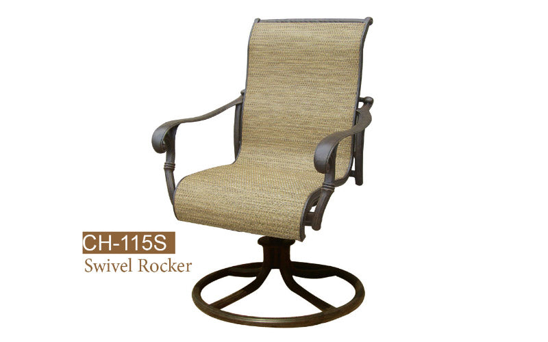 Welded Swivel Rocker Chair 2pc