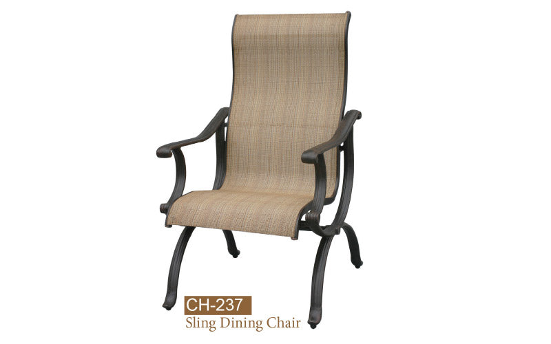 Fully Welded Sling Dining Chair 2pc