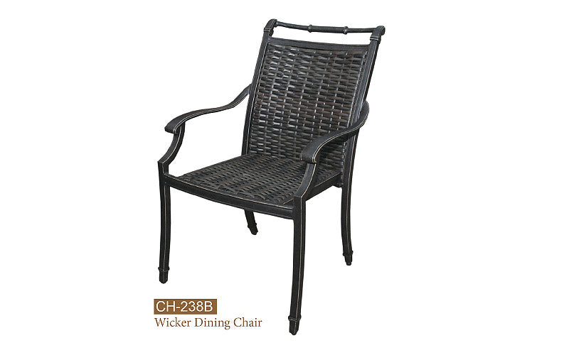 Fully Welded Wicker Dining Chair  Round&Flat Weave 4pc