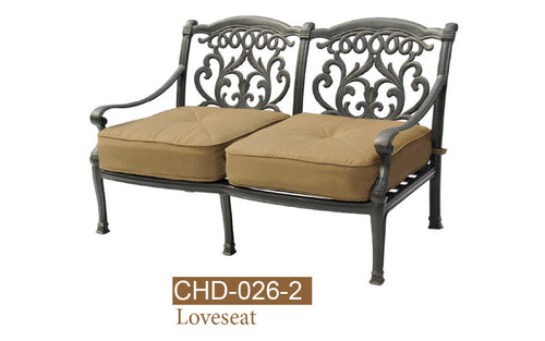Fully Welded Deep Seating Loveseat