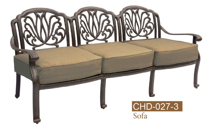 Fully Welded Deep Seating 3 Seat Sofa 2pc