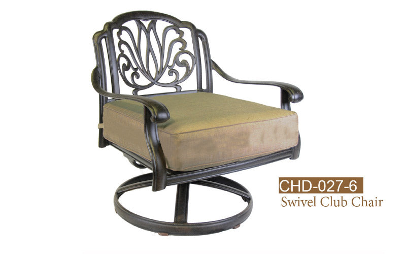 Fully Welded Swivel Club Chair 2pc