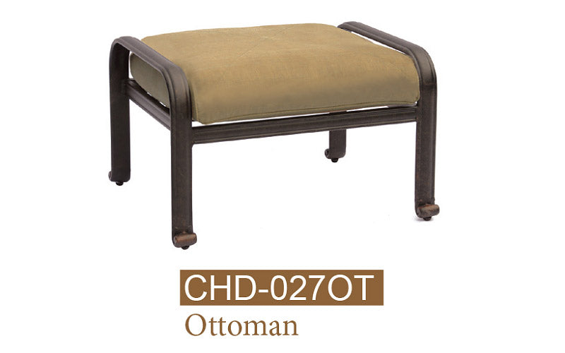 Fully Welded Ottoman. Set With Cushion #8318
