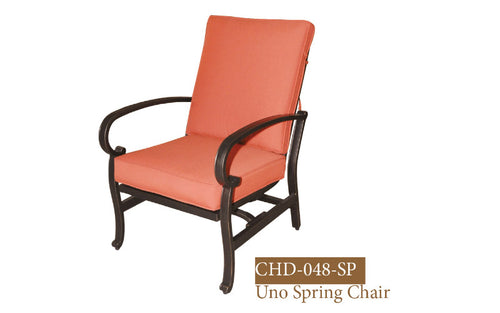 Deep Seating Spring Club Chair with Sunbrella cushion 2pc