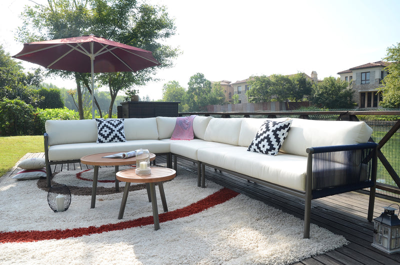Claire 6 piece patio sectional by Mr. backyard