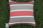 Amazing quick drying fabric on our outdoor pillows. Mr. backyard ships their pillows nationwide.