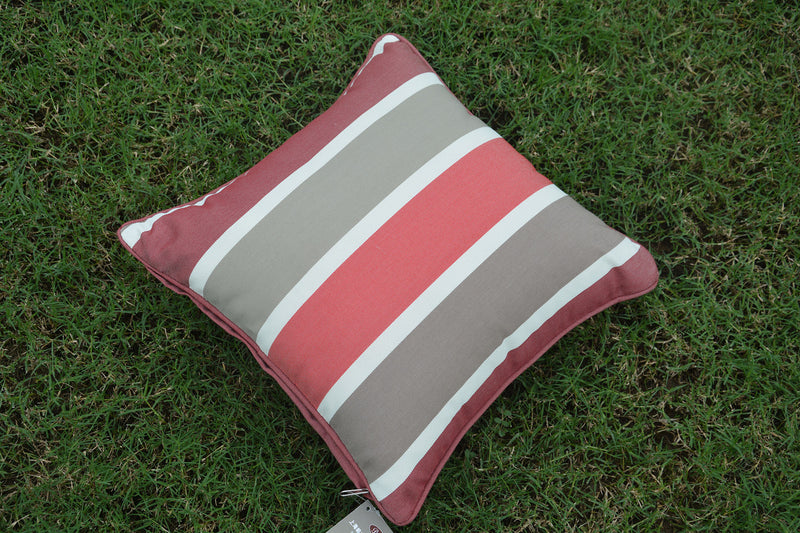 Pillow made to accentuate any outdoor set be it dining set, seating set, conversational set, firepit set, chaise, lounge, hanging chair - the list goes on. These pillows are the perfect decor compliment for your set.