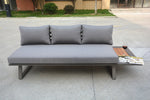 Ferme sofa by Mr. backyard offers unparalleled comfort and modern design using aluminum and teak elements.