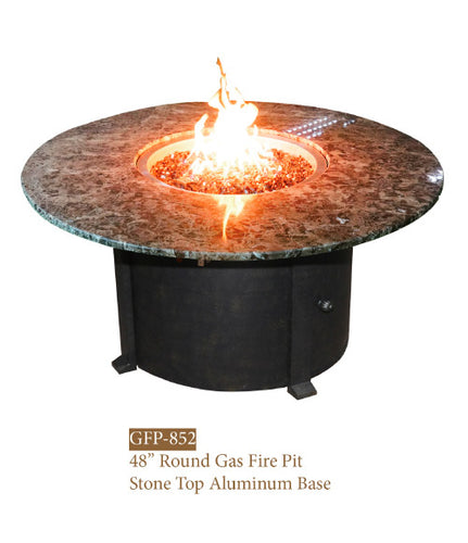 Dyno Round Fire Table With Granite Top