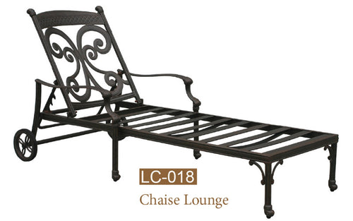 Fully Welded Chaise Lounge 1pc