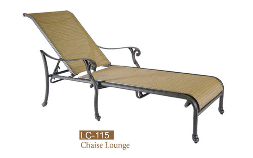 Fully Welded Sling Chaise Lounge 2pc