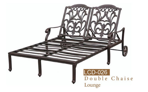 Fully Welded Double Chaise 1pc