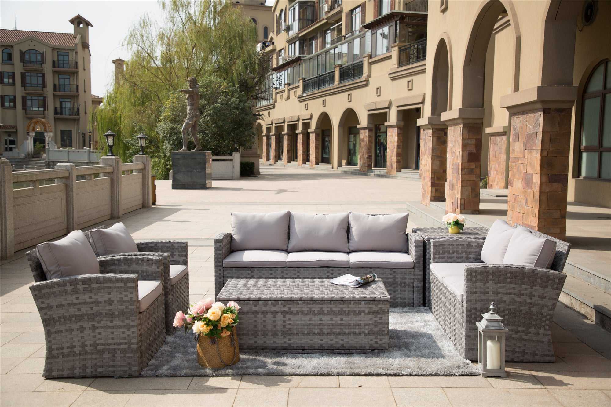 Probasco outdoor sofa sectional with deep seating. Currently on our pre-order special with free delivery and assembly.
