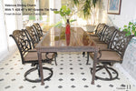 Rect Dining Table Red Granite Tile