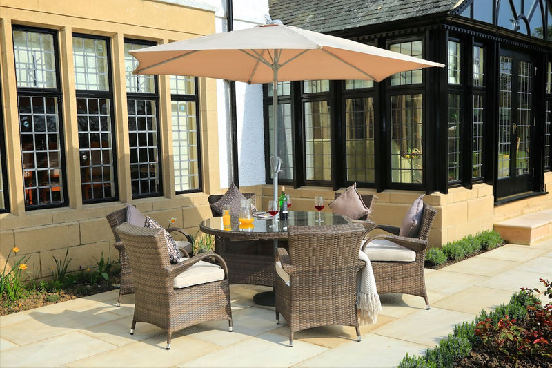 Bellevue Outdoor Patio Dining Set By Mr. Backyard Includes 7 To 8 Pieces  And Is