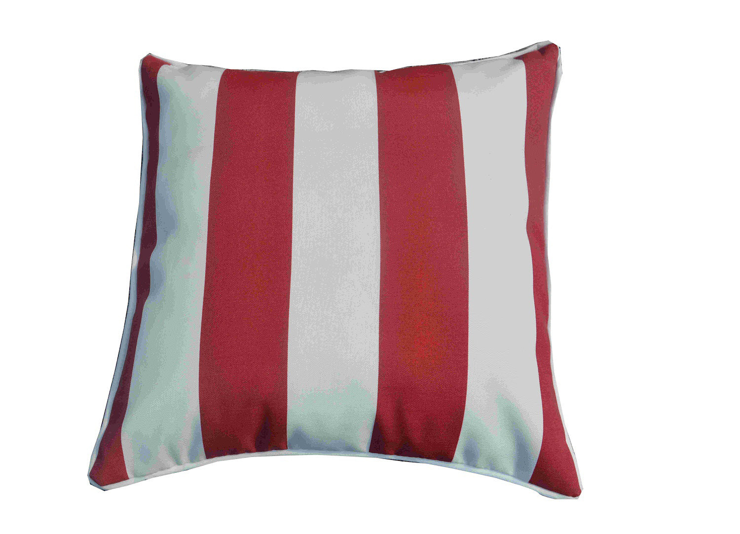 Outdoor Pillow in Dark Pink/White - Set of 2