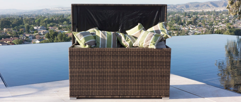Rutherford Outdoor Rattan Wicker Storage Box (PREORDER)