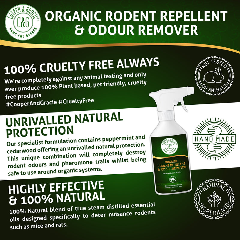 Organic Rodent Repellent & Odour Remover 500ml