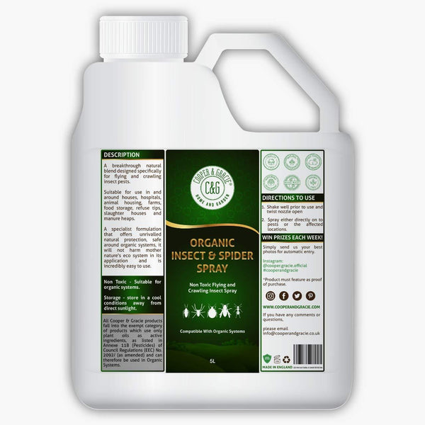 Organic Multi Insect And Spider Spray - Non Toxic Spray Against Insect Pests
