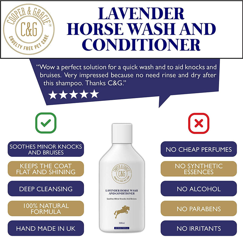 Lavender Horse Wash And Conditioner Soothes Minor Knocks And Bruises (4571034288183)