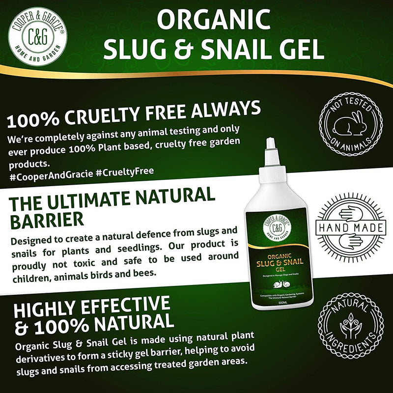 Organic Slug and Snail Gel Plant Defence 500ml NonToxic 100% Plant Based Natural Slug Gel Eco Friendly (4582370377783)