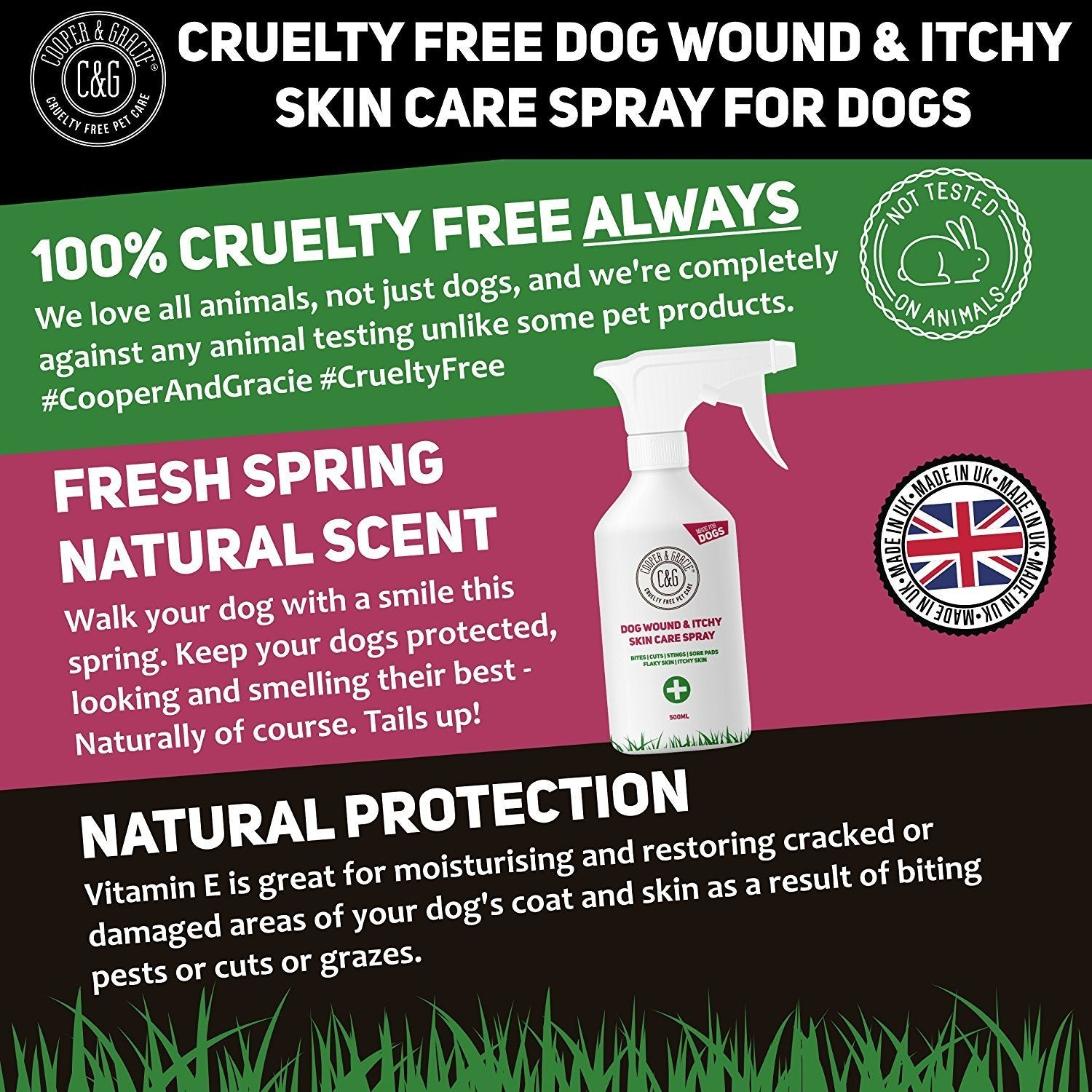 PURPLE WOUND SPRAY FOR DOGS - BEST ORGANIC NATURAL